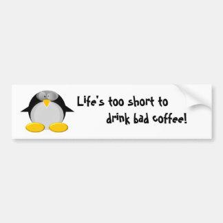 Mr. Penguin like coffee Bumper Sticker