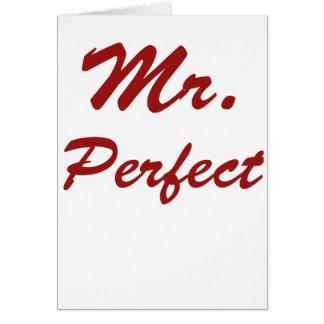Mr. Perfect! Card