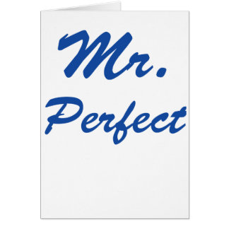 Mr. Perfect Card