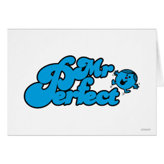 Mr. Perfect | Large Blue Letters Card
