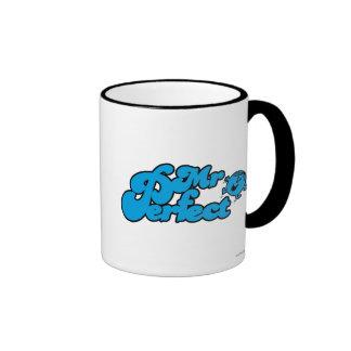 Mr. Perfect | Large Blue Letters Ringer Coffee Mug