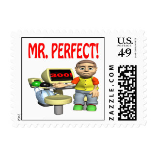 Mr Perfect Postage Stamp