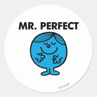 Mr. Perfect | Quietly Content Classic Round Sticker