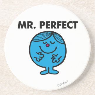 Mr. Perfect   Quietly Content Drink Coaster