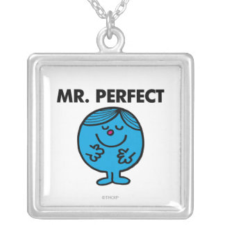 Mr. Perfect | Quietly Content Square Pendant Necklace