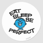 Mr. Perfect's Plan For Life Round Sticker