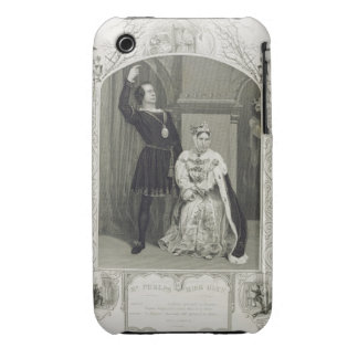 Mr Phelps as Hamlet and Miss Glyn as Queen Gertrud iPhone 3 Case
