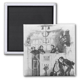 Mr. Pickwick and Sam in the attorney's office 2 Inch Square Magnet