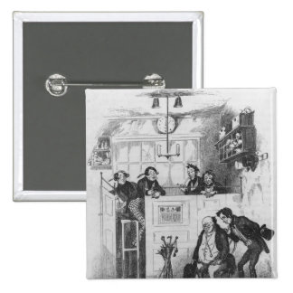 Mr. Pickwick and Sam in the attorney's office 2 Inch Square Button