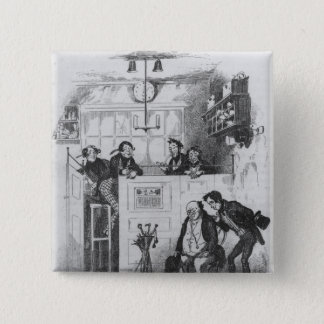 Mr. Pickwick and Sam in the attorney's office Pinback Button