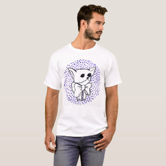 Mr. PiddlePoo the Chihuahua, purple polka dots T-Shirt