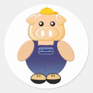 Mr. Piggly Wiggly Classic Round Sticker