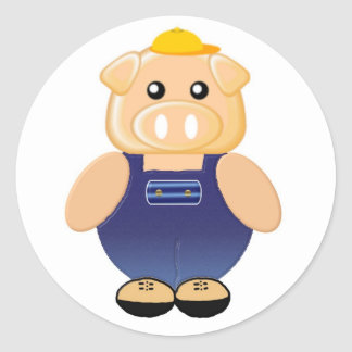 Mr. Piggly Wiggly Classic Round Sticker
