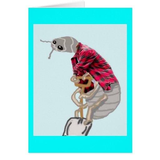 Mr. Pilly Pillbug Likes To Shovel Greeting Card