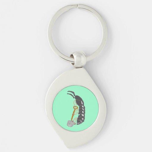 Mr. Pilly Pillbug Likes To Shovel Keychains