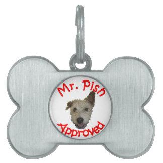Mr Pish Approved Gear Pet Tag