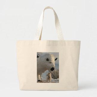 Mr. Pish at Antelope Island Large Tote Bag
