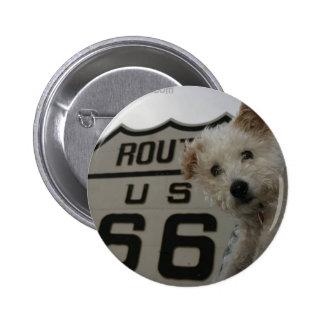 Mr Pish on Route 66 Pinback Button