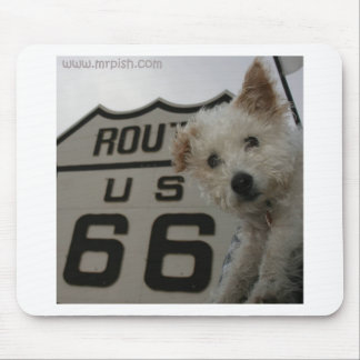 Mr. Pish on Route 66 Mouse Pad