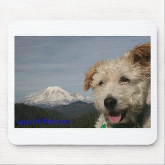 Mr. Pish Visits Mt. Rainier Mousepad