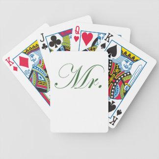 Mr. Bicycle Poker Deck