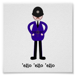 Mr Plod The Policeman Poster