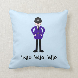 Mr Plod The Policeman Throw Pillows