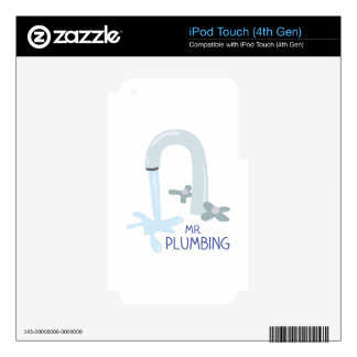 Mr Plumbing Skins For iPod Touch 4G