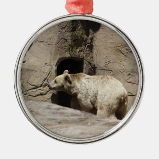 Mr Polar Bear Metal Ornament