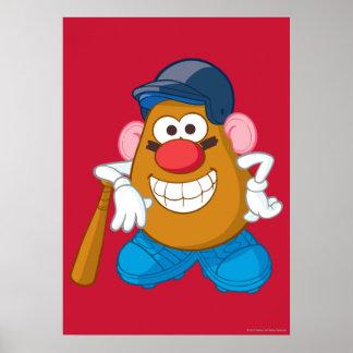 Mr. Potato Head - Baseball Poster