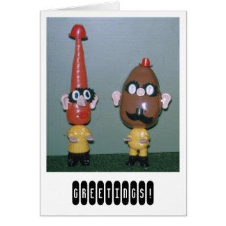Mr. Potato Head Greeting Card