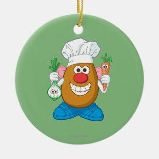 Mr. Potato Head - Chef Ceramic Ornament