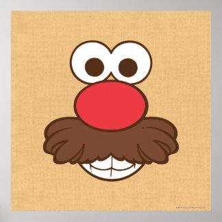 Mr. Potato Head Face Poster