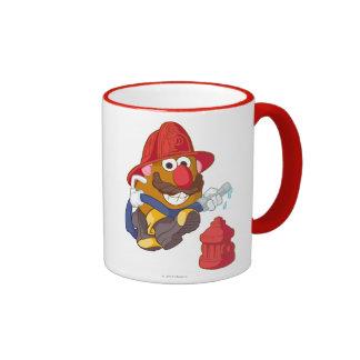 Mr. Potato Head - Fireman Ringer Coffee Mug
