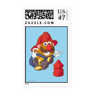 Mr. Potato Head - Fireman Postage Stamp