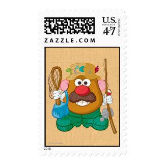 Mr. Potato Head - Fisherman Postage Stamp