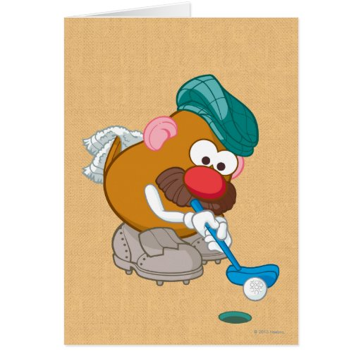 Mr. Potato Head - Golfer Greeting Card