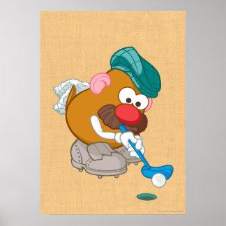 Mr. Potato Head - Golfer Print