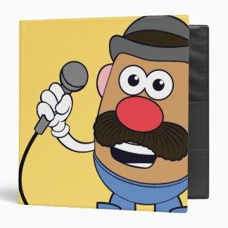 Mr. Potato Head Holding Microphone 3 Ring Binder