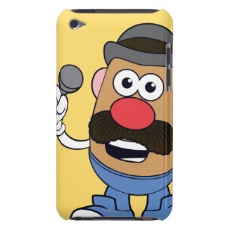 Mr. Potato Head Holding Microphone iPod Touch Case-Mate Case