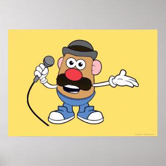 Mr. Potato Head Holding Microphone Poster