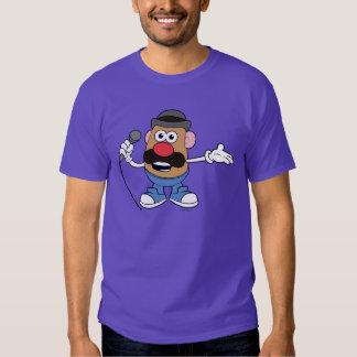 Mr. Potato Head Holding Microphone T Shirt