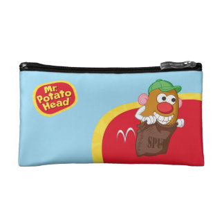 Mr. Potato Head Hopping in Potato Sack Cosmetic Bag