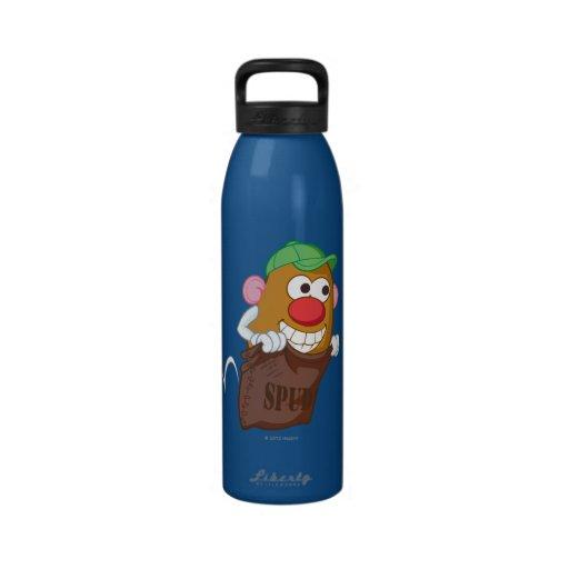 Mr. Potato Head Hopping in Potato Sack Reusable Water Bottles