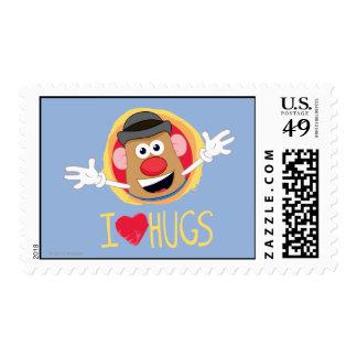 Mr. Potato Head - I Love Hugs Postage