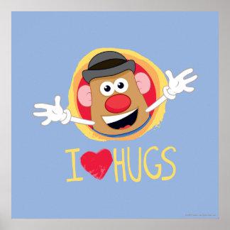 Mr. Potato Head - I Love Hugs Poster