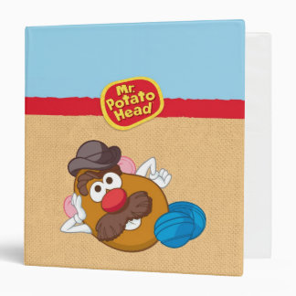 Mr. Potato Head Laying Down 3 Ring Binder