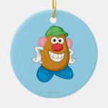 Mr. Potato Head Double-Sided Ceramic Round Christmas Ornament