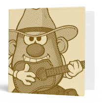 Mr. Potato Head Playing Guitar 3 Ring Binder
