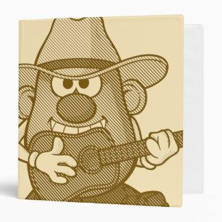 Mr. Potato Head Playing Guitar 3 Ring Binder